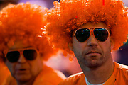 The future is bright, the future is orange, for these darts fans during the World Darts Championships 2018 at Alexandra Palace, London, United Kingdom on 29 December 2018.