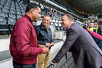 ALMELO - 14-04-2017, Heracles  Almelo - AZ, AFAS Stadion, Henk Fraser, Edward Sturing, AZ trainer John van den Brom