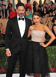 Sofia Vergara and Joe Manganiello at the 23rd Annual Screen Actors Guild Awards held at the Shrine Expo Hall in Los Angeles, USA on January 29, 2017.
