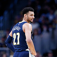09 March 2018: Denver Nuggets guard Jamal Murray (27) is seen during the Denver Nuggets125-116 victory over the Los Angeles Lakers, at the Pepsi Center, Denver, Colorado, USA.