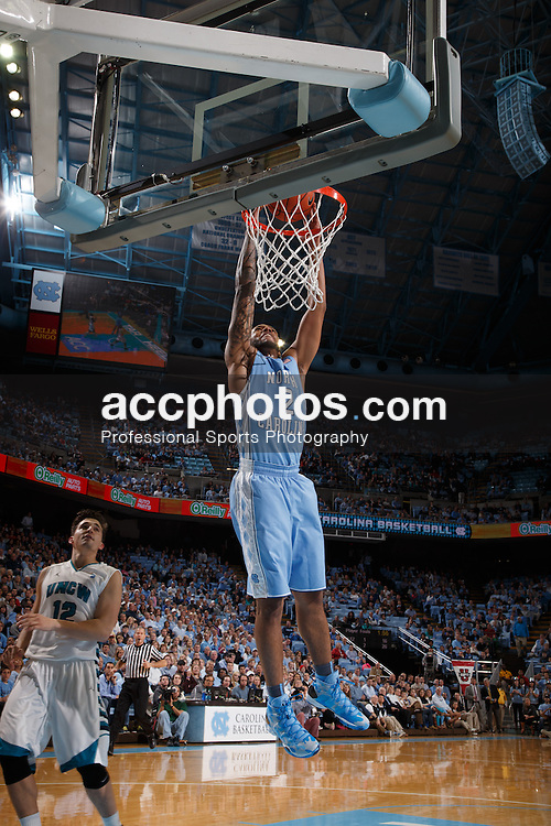 CHAPEL HILL, NC - DECEMBER 31: Leslie McDonald #2 of the North Carolina Tar Heels dunks on the UNC Wilmington Seahawks on December 31, 2013 at the Dean E. Smith Center in Chapel Hill, North Carolina. North Carolina defeated UNC Wilmington 84-51. (Photo by Peyton Williams/UNC/Getty Images) *** Local Caption *** Leslie McDonald