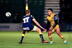 David Lemi (capt) of Bristol Rugby passes the ball - Mandatory by-line: Robbie Stephenson/JMP - 04/11/2016 - RUGBY - Sixways Stadium - Worcester, England - Worcester Warriors v Bristol Rugby - Anglo Welsh Cup