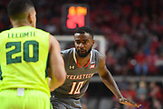 LUBBOCK, TX - DECEMBER 29: Niem Stevenson #10 of the Texas Tech Red Raiders defends Manu Lecomte #20 of the Baylor Bears during the game on December 29, 2017 at United Supermarket Arena in Lubbock, Texas. Texas Tech defeated Baylor 77-53. (Photo by John Weast/Getty Images) *** Local Caption *** Niem Stevenson;Manu Lecomte