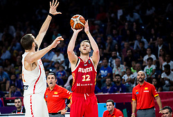 Andrey Zubkov of Russia during basketball match between National Teams  Spain and Russia at Day 18 in 3rd place match of the FIBA EuroBasket 2017 at Sinan Erdem Dome in Istanbul, Turkey on September 17, 2017. Photo by Vid Ponikvar / Sportida