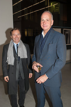 TONY CHAMBERS; RICHARD JAMES, Editor of Wallpaper: Tony Chambers and architect Annabelle Selldorf host drinks to celebrate the collaboration between the architect and three of Savile Row's finest: Hardy Amies, Spencer hart and Richard James. Hauser and Wirth Gallery. ( Current show Isa Genzken. ) savile Row. London. 9 January 2012.