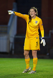 LLANELLI, WALES - Monday, August 19, 2013: England's goalkeeper Elizabeth Durack, who saved a penalty, in action against France during the Group A match of the UEFA Women's Under-19 Championship Wales 2013 tournament at Stebonheath Park. (Pic by David Rawcliffe/Propaganda)