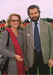 PRINCESS IRA VON FURSTENBERG and MR CESARE CANAVESIO, at a polo match in Berkshire on 14th June 1998.MII 68