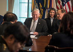 Defense Secretary James N. Mattis meets with His Excellency Prawit Wongsuwon, Minister of Defence for the Kingdom of Thailand at the Pentagon in Washington, D.C., April 23, 2018. (DoD photo by Tech Sgt. Vernon Young Jr.)