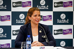 Pressconference HRH Princess Haya of Jordania<br /> Furusiyya FEI Nations Cup Jumping Final<br /> CSIO Barcelona 2013<br /> © Dirk Caremans