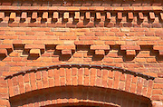 Restored brickwork at Manufactura Shopping Centre. Balucki District Lodz Poland