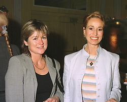 Left to right, MRS RUPERT CLEVELY and dancer BRYONY BRIND, she recently married Skev Theodorou, at a reception in London on April 16th 1997.LXR 21