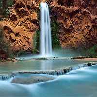 The Giant Mooney Falls.  This waterfall is approximately 200ft tall.  Havasupai AZ