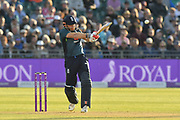 Jonny Bairstow of England on the attack during the third Royal London One Day International match between England and Pakistan at the Bristol County Ground, Bristol, United Kingdom on 14 May 2019.