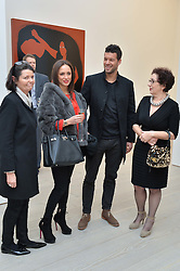 Left to right, ?, NATACHA TANNOUS, footballer MICHAEL BALLACK and ?  at the launch of a new exhibition 'Le Tarbouche' by French-Lebanese artist Mouna Rebeiz held at The Saatchi Gallery, Duke of York's HQ, King's Road, London on 26th February 2015.