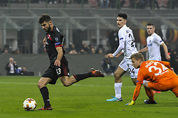 November 23, 2017 - Milan, Italy - Patrick Cutrone of AC Milan in action for the fifth goal   during uefa Europa League AC Milan vs FK Austria Wien at San Siro Stadium (Credit Image: © Gaetano Piazzolla/Pacific Press via ZUMA Wire)