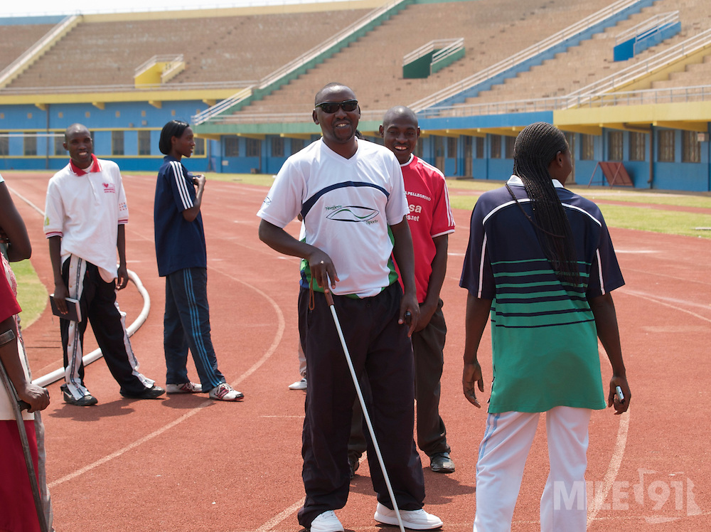 Some of the club members of the National Paralympic Committee (NPC). NPC works with disabled people and sport throughout Rwanda, from grass roots to international level, using sport as a means of social integration.
