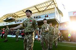 Army personal at the Memorial Stadium  - Mandatory by-line: Dougie Allward/JMP - 17/11/2018 - FOOTBALL - Memorial Stadium - Bristol, England - Bristol Rovers v Scunthorpe United - Sky Bet League One
