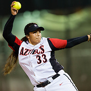 15 February 2018: The San Diego State softball team hosts #25 Kentucky to open up the 28th annual Campbell/Cartier Classic. San Diego State starting pitcher Marissa Moreno (33) seen here in the first inning against Kentucky. The Aztecs lost to the Wildcats 5-0.<br /> More game action at www.sdsuaztecphotos.com
