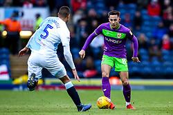 Josh Brownhill of Bristol City takes on Jack Rodwell of Blackburn Rovers - Mandatory by-line: Robbie Stephenson/JMP - 09/02/2019 - FOOTBALL - Ewood Park - Blackburn, England - Blackburn Rovers v Bristol City - Sky Bet Championship