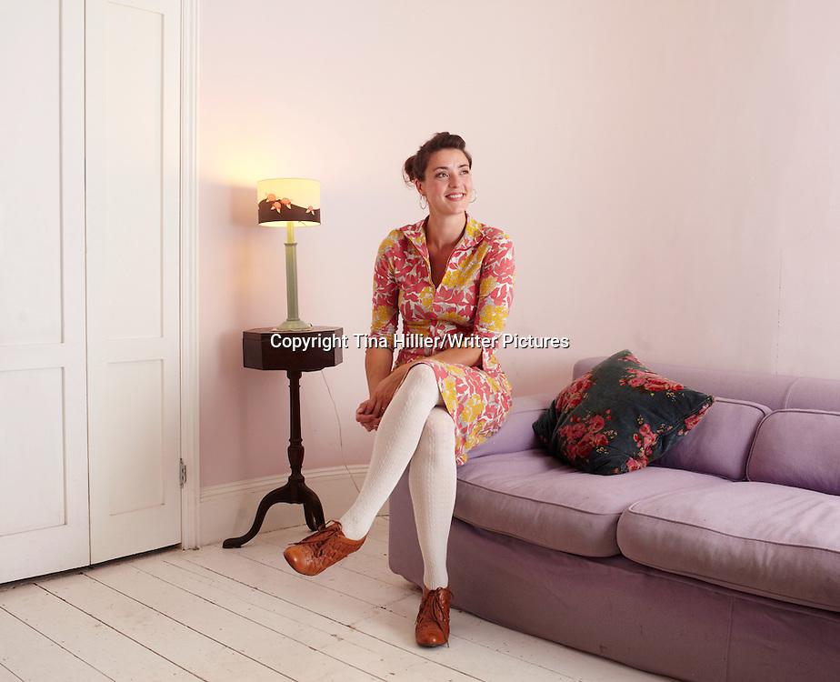 Stella Gurney, British writer of children's books. Photographed at home on 28th August 2012. <br /> <br /> Picture by Tina Hillier/Writer Pictures<br /> <br /> WORLD RIGHTS