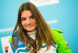 Nina Zadravec during presentation of Slovenian Young Athletes before departure to EYOF (European Youth Olympic Festival) in Vorarlberg and Liechtenstein, on January 21, 2015 in Bled, Slovenia. Photo by Vid Ponikvar / Sportida