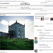 "Screengrab of ""Rich Americans Snap Up Irish Castles for Love and Discounts"" published in The New York Times"