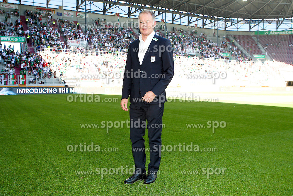 29.08.2015, WWK Arena, Augsburg, GER, 1. FBL, FC Augsburg vs FC Ingolstadt 04, 3. Runde, im Bild Manager Stefan Reuter (FC Augsburg) // during the German Bundesliga 3rd round match between FC Augsburg and FC Ingolstadt 04 at the WWK Arena in Augsburg, Germany on 2015/08/29. EXPA Pictures &copy; 2015, PhotoCredit: EXPA/ Eibner-Pressefoto/ Kolbert<br /> <br /> *****ATTENTION - OUT of GER*****