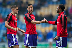 Richard Wood of Rotherham United chats with fellow team mates - Mandatory by-line: Jason Brown/JMP - 03/09/2017 - FOOTBALL - Fratton Park - Portsmouth, England - Portsmouth v Rotherham United - Sky Bet League Two