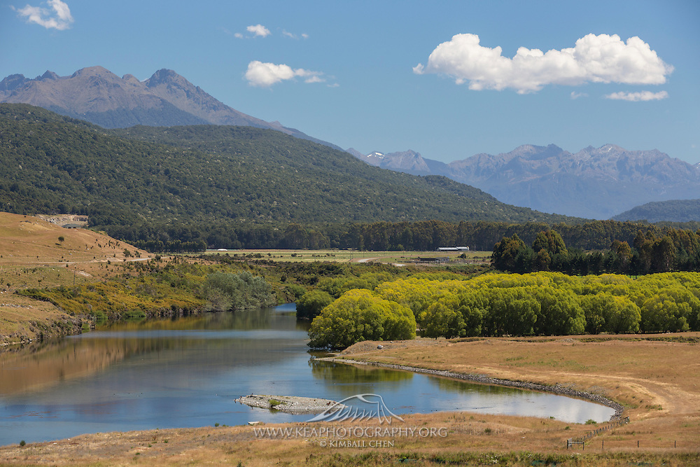Waiau River, upstream from the dam, Southland, New Zealand