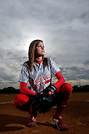 Hillsborough, Gibsonton, Fl. 2/19/2010-KAYLA COX 02-23-10- East Bay High School senior pitcher Kayla Cox in Gibsonton, Fla. on Friday, February 19, 2010. KAYLA COX 02-23-10 03 OF 10 IMAGES STAFF MICHAEL SPOONEYBARGER