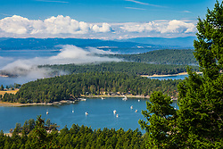 North America, United States, Washington, San Juan Islands, view from Mt. Constitution on Orcas Island
