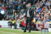 Milton Keynes Dons manager Karl Robinson during the Sky Bet Championship match between Milton Keynes Dons and Brighton and Hove Albion at stadium:mk, Milton Keynes, England on 19 March 2016.