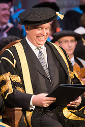 © Licensed to London News Pictures. 13/07/2015. Huddersfield, UK. HRH The Duke of York has today taken over as Chancellor of Huddersfield University from Sir Patrick Stewart. Photo credit : Andrew McCaren/LNP