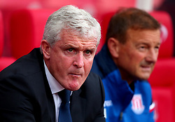 (Caption Correction) Stoke City manager Mark Hughes - Mandatory by-line: Robbie Stephenson/JMP - 19/08/2017 - FOOTBALL - Bet365 Stadium - Stoke-on-Trent, England - Stoke City v Arsenal - Premier League