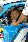 Jun 2005; Brooklyn, MI; Mark Martin straps in for the start of the Nextel Cup Series Batman Begins 400 at Michigan International Speedway.