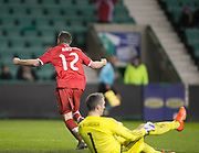 Canada&rsquo;s Fraser Aird celebrates after scoring  - Scotland v Canada, friendly international at EasterRoad, Edinburgh.Photo: David Young<br /> <br />  - &copy; David Young - www.davidyoungphoto.co.uk - email: davidyoungphoto@gmail.com