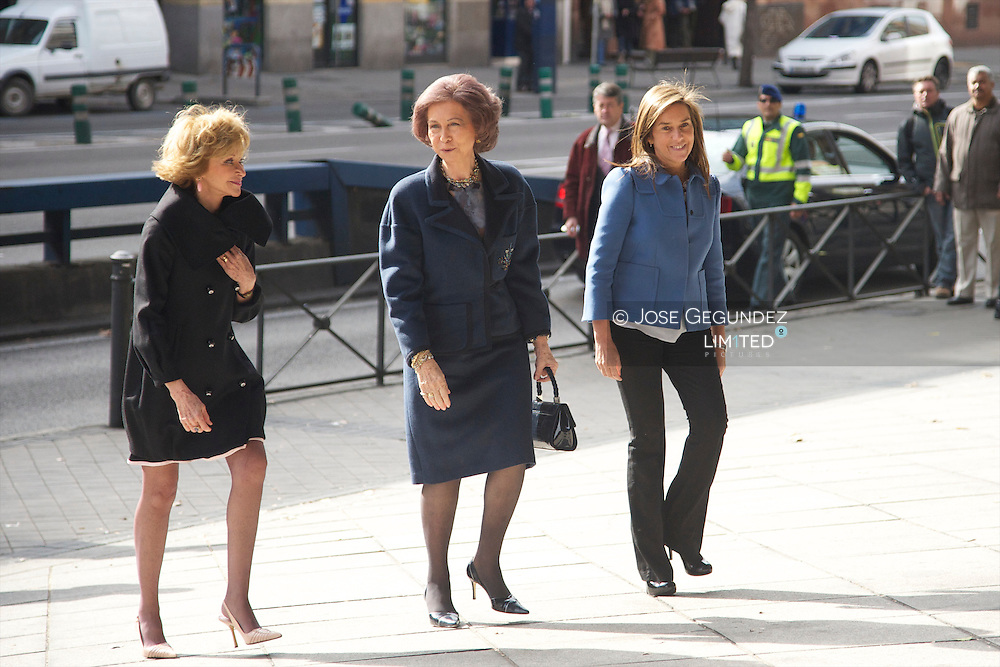 "Queen Sofia of Spain, Ana Mato and Maria Teresa Fernandez de la Vega attend the Presentation Foundation ""Women in Africa"" (Mujeres por Africa) at Reina Sofia Museum in Madrid"