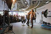 Photokina 2008, World's bigest bi-annual photo fair. Model shoot at the Canon both.