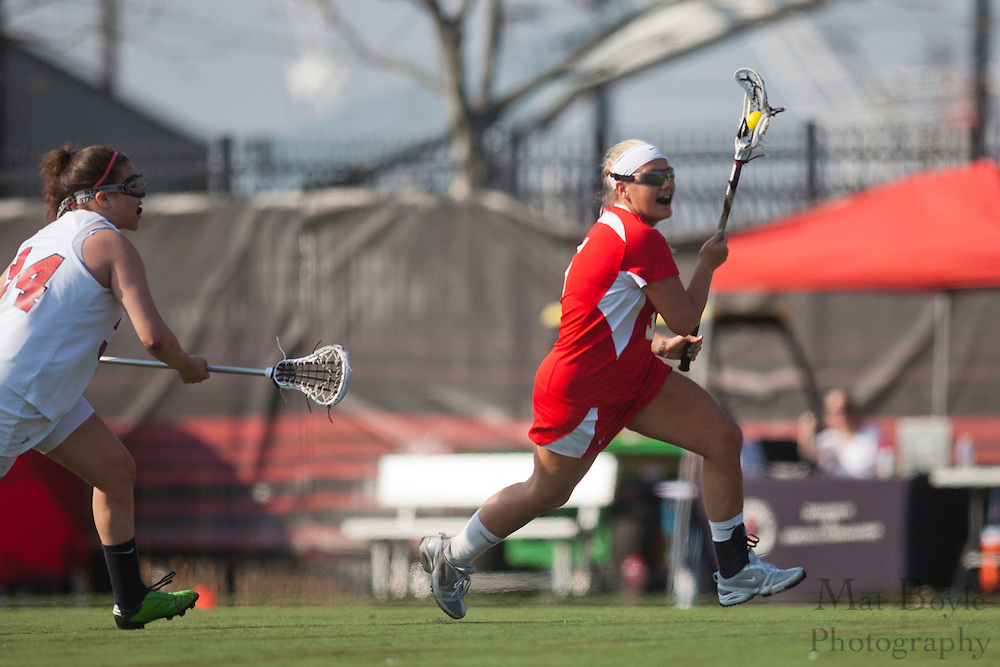 Rutgers University - Camden Lacrosse Junior Jennifer Metzger (5); Rutgers-Camden Lacrosse against Montclair State University  on Wednesday March 21, 2012. (photo / Mat Boyle)