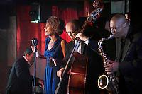 Jazz band performing in nightclub