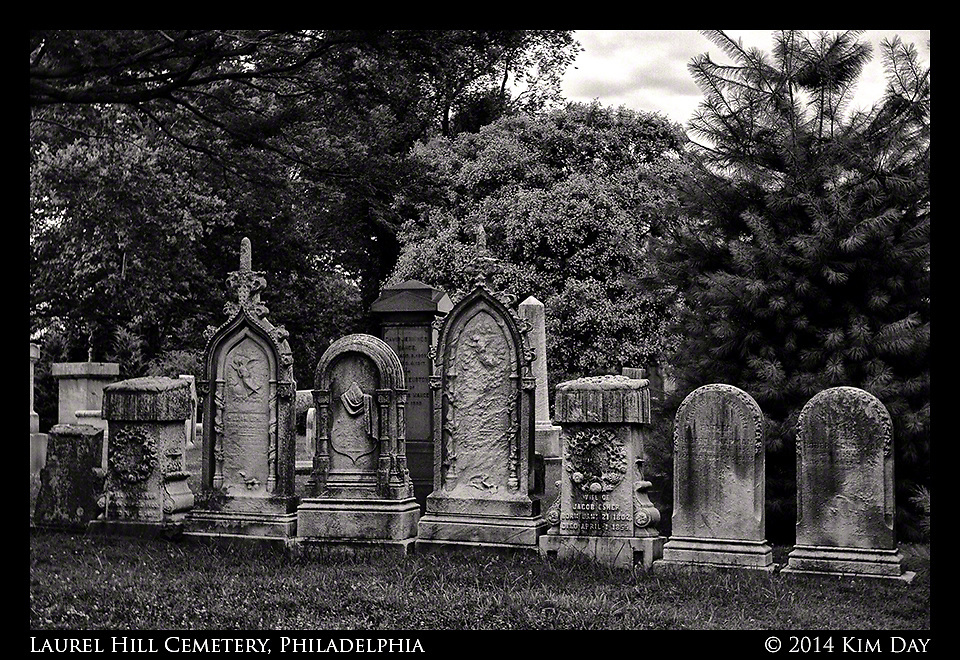 Headstone Row<br /> Laurel Hill Cemetery - Philadelphia<br /> July 2014