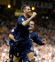Photo: Jed Wee/Sportsbeat Images.<br /> Scotland v Lithuania. UEFA European Championships Qualifying. 08/09/2007.<br /> <br /> Scotland's Stephen McManus celebrates after restoring Scotland's lead after Lithuania had equalised.