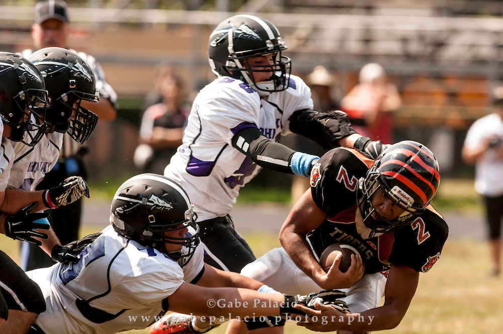 John Jay Varsity football at Spring Vallley on September 6, 2014. (photo by Gabe Palacio)