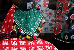 SWITZERLAND ZURICH 3MAR12 - Scarves and cushions on display in a shopfront in Zurich, Switzerland. ....jre/Photo by Jiri Rezac....© Jiri Rezac 2012