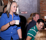 """Audience participation is part of Mayhem & Mystery's production of """"Festival Fracas"""" at the Spaghetti Warehouse in downtown Dayton, Monday, September 27, 2010."""