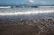 Atlantic Ocean coast beach and waves, Caleta de Famara, Lanzarote, Canary islands, Spain