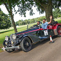 James Page and Francis Galashan in their Alvis 4.3 Vanden Plas  on the Royal Automobile Club 1000 Mile Trial 2015