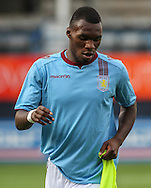 Picture by David Horn/Focus Images Ltd +44 7545 970036<br /> 23/07/2013<br /> Christian Benteke of of Aston Villa warms up before starting the Pre Season Friendly match at Kenilworth Road, Luton.