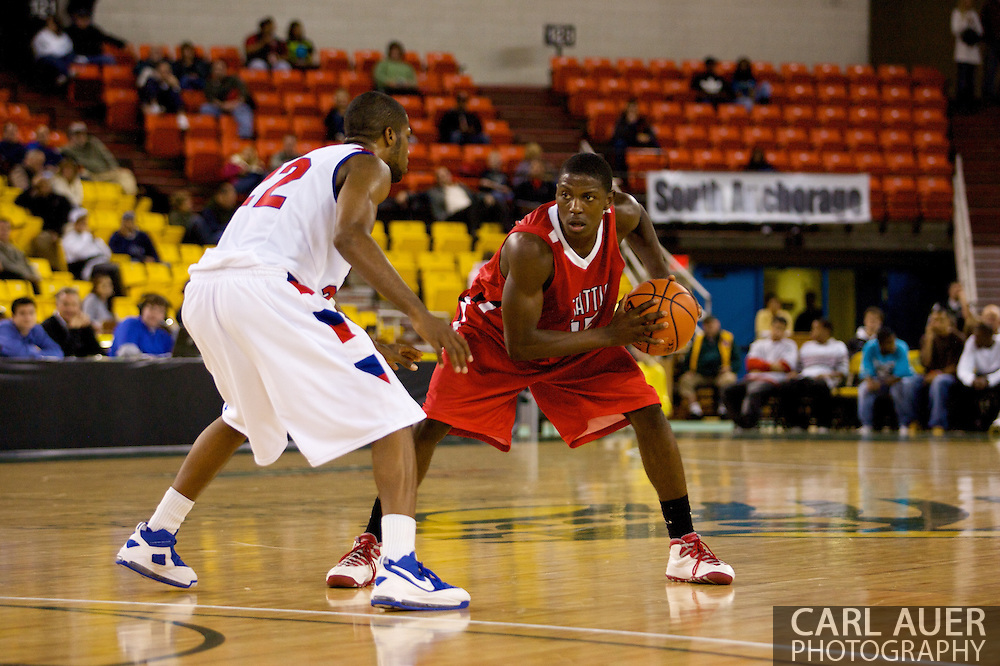 November 27, 2008: Seattle University guard Chris Gweth (15) looks to get past Louisiana Tech's Kyle Gibson in the opening round of the 2008 Great Alaska Shootout at the Sullivan Arena