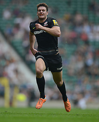 Saracens Outside Centre Duncan Taylor- Photo mandatory by-line: Alex James/JMP - 07966 386802 - 06/09/2014 - SPORT - RUGBY UNION - London, England - Twickenham Stadium - Saracens v Wasps - Aviva Premiership London Double Header.
